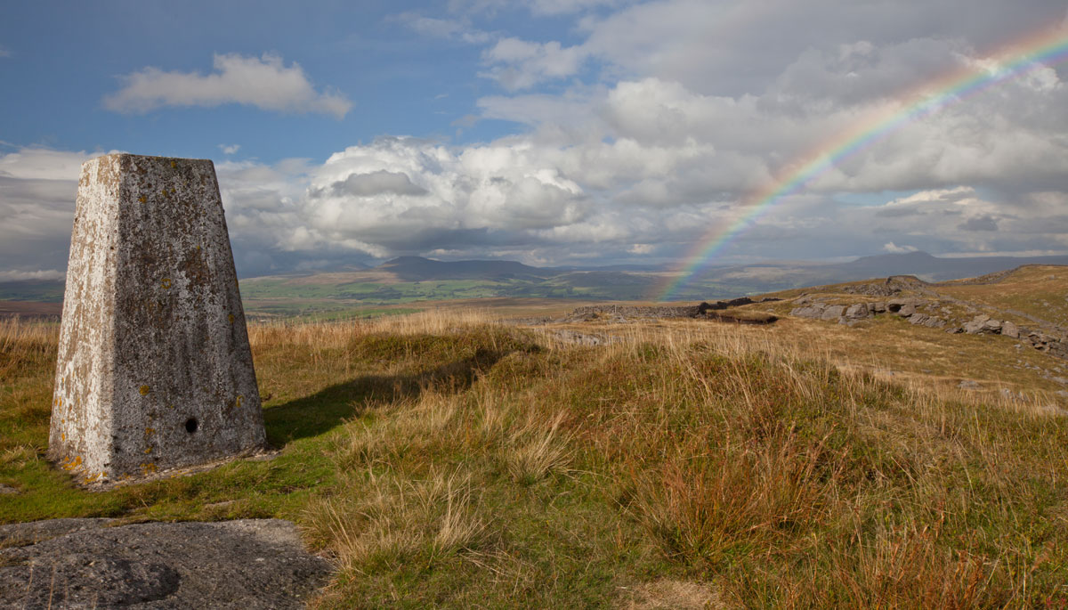 rainbow over Bowland Knotts